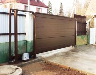 Откатные ворота под ключ в Ростове-на-Дону