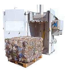 пресс для мусора и отходов, пакетировочный пресс