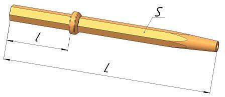 Штанга буровая шестигранная S 22 - M 14, L 1m - 6m