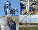 Монтаж провода сип, электромонтажные работы, установка столбов, бурение