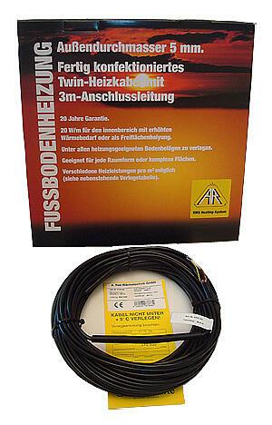 Нагревательный кабель с односторонним подключением