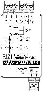 Индикатор (сигнализатор) положения RI21 для привода ARI-Premio