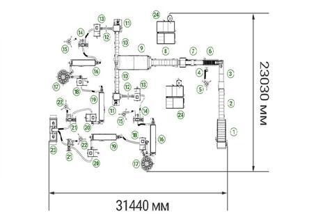 Линия переработки полигонной ПЭТ бутылки