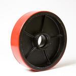 Колесо рулевое для гидравлической тележки (полиуретан на металле) P200x50/ПУ+М с подшипниками