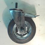 Колесо промышленное болтовое крепление с тормозом SCTB 200 (серая резина)