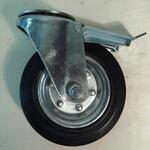 Колесо промышленное под болт с тормозом SCHB 160