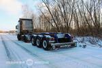 Полуприцеп-контейнеровоз модели SW-345 2m для перевозки 20-футового контейнера