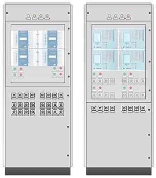 Шкафы защит двух двухобмоточных трансформаторов и АУВ стороны ВН
