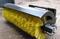 Щетка дорожная поворотная с системой полива для фронтального погрузчика с рабочей шириной 3000 мм и диаметром