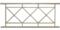 Рама пешеходного ограждения ПО-3.100 СБ