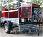 Мотопомпа пожарная МП-20/100 П quot;Гейзерquot; на легковом прицепе МЗСА, без ПТВ, без ПТС