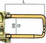 Комплект плеч с возд. охл.L=235мм,D=18мм - TECNA 5023