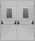 Двухстворчатые Металлические Противопожарные Двери Антипаника (Двупольные) С Остеклением / Стеклопакетом EI60 ГОСТ Р 53307-2009