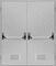 Двухстворчатые Противопожарные Двери (Двупольные) Антипаника с вентиляционной решеткой EI60 ГОСТ Р 53307-2009