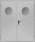 Двухстворчатые Металлические Противопожарные Двери (Двупольные) с круглым стеклом / Стеклопакетом EI60 ГОСТ Р 53307-2009