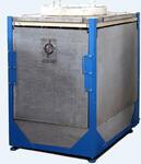 Индукционная раздаточная печь для плавки и выдержки цветных металлов