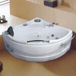 Sector Shaped Massage Masssage Bathtub With Armrest-LX-219