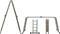 Лестница-трансформер алюминиевая, 4 секции х 4 ступени, вес 11,7 кг