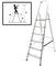 Лестница-стремянка алюминиевая, 6 ступеней, вес 4,6 кг