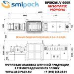 Автоматическая термоупаковочная машина Smipack BP802ALV 600R