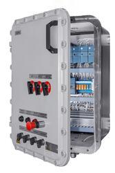 Взрывозащищенные шкафы  управления ( освещения) по схеме заказчика Ex d IIB+Н2