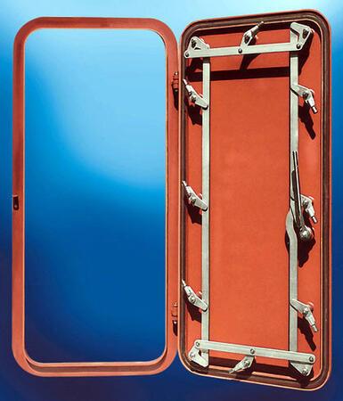 Двери судовые водогазонепроницаемые стальные глухие типа II-R(L)-Ст-НхВхS-Р-АВ