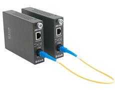 Конвертор D-Link  10/100Mbps UTP в 100Mbps SM Single Fiber 20km, SC, ресивер