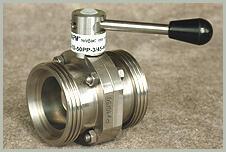 Затворы поворотные дисковые из нержавеющей стали с ручным управлением ЗПД-10
