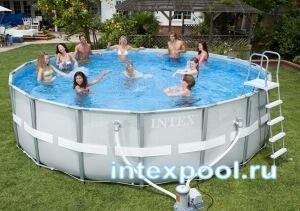 Каркасный бассейн 488х122см. INTEX 54452