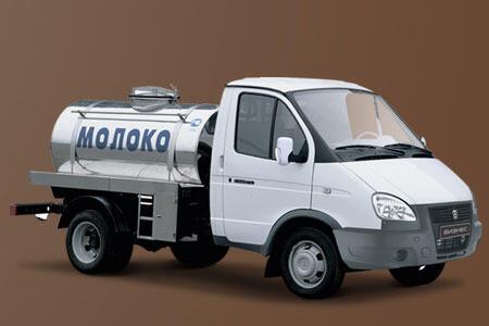 Автоцистерна для перевозки молока на базе ГАЗ-3302