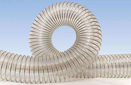 Гибкий полимерный воздуховод PU-1.0 (PUR, PU-1000, P1 PU) из полиуретана диаметр 150 мм