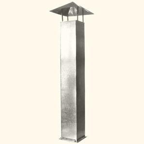 Прямоугольный воздуховод на шинорейке с зонтом