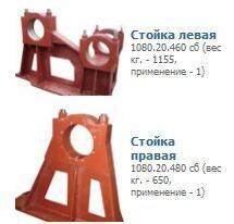 Стойки литые, стойки чугунные крупногабаритные, стойки стальные
