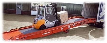 Пандус для склада, пандусы стационарные, перегрузочная эстакада, перегрузочное оборудование