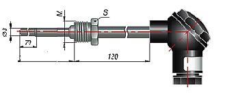Термоэлектрические преобразователи (термопары) ДТПК 055, ДТПL 055