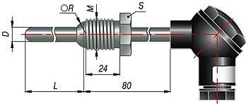Термоэлектрические преобразователи (термопары) ДТПК 215, ДТПL 215