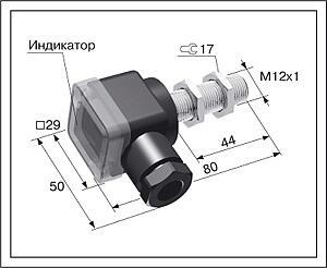 Датчик положения индуктивный ВБ2.12М.80.2.X.X.В