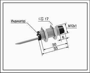 Датчик положения индуктивный ВБ2.12М.33.4.X.X.К