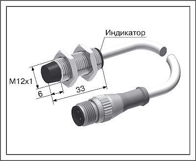 Датчик положения индуктивный ВБ2.12М.33.4.X.X.К/C18