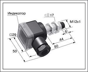 Датчик положения индуктивный ВБ2.12М.80.4.X.X.В