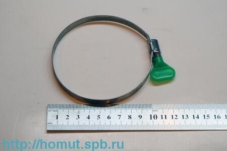 Хомуты с пластмассовой ручкой-бабочкой (Китай, оцинкованная и нержавеющая сталь W1 и W2)