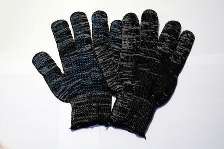 Перчатки 4 нити с ПВХ 10 кл.графит