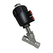 Клапан отсечной седельный муфтовый из нержавеющей стали с полимерным приводом КНОПП-ПГ1хх3хх