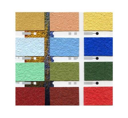 Моноцветные флоки для декорирования полов