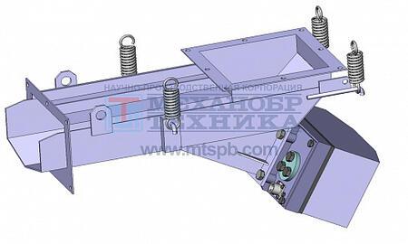Питатель вибрационный с электромагнитным приводом ПЭУ 1,8х5