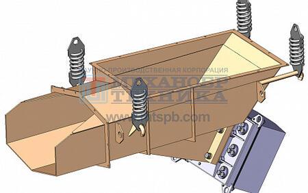 Питатель вибрационный с электромагнитным приводом ПЭУ 5х12