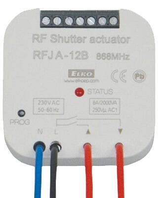 Приемник (радиоуправляемый регулятор роллет) RFJA-12B