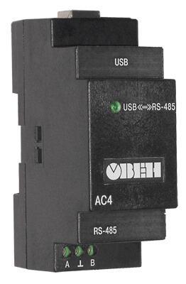 Преобразователь интерфейсов (RS-485/USB) ОВЕН АС4