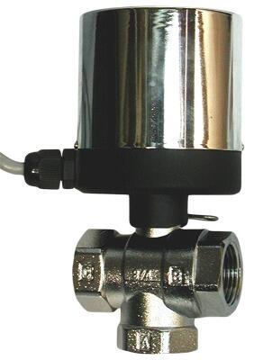 Кран шаровой переключающий неполнопроходной с электроприводом AR-GH100-2