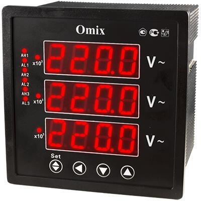 Вольтметр трехфазный щитовой с 3 релейными выходами Omix P99-VX-3-0.5-3K